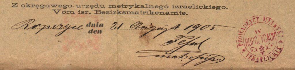 Ropczyce - 1905