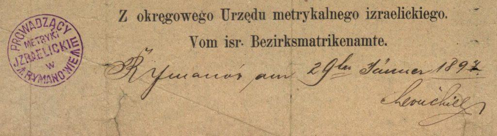 Rymanów - 1892