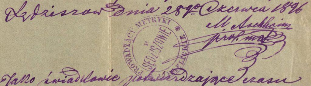 Sędziszów Małopolski - 1896