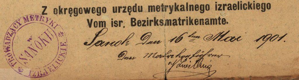 Sanok - 1901