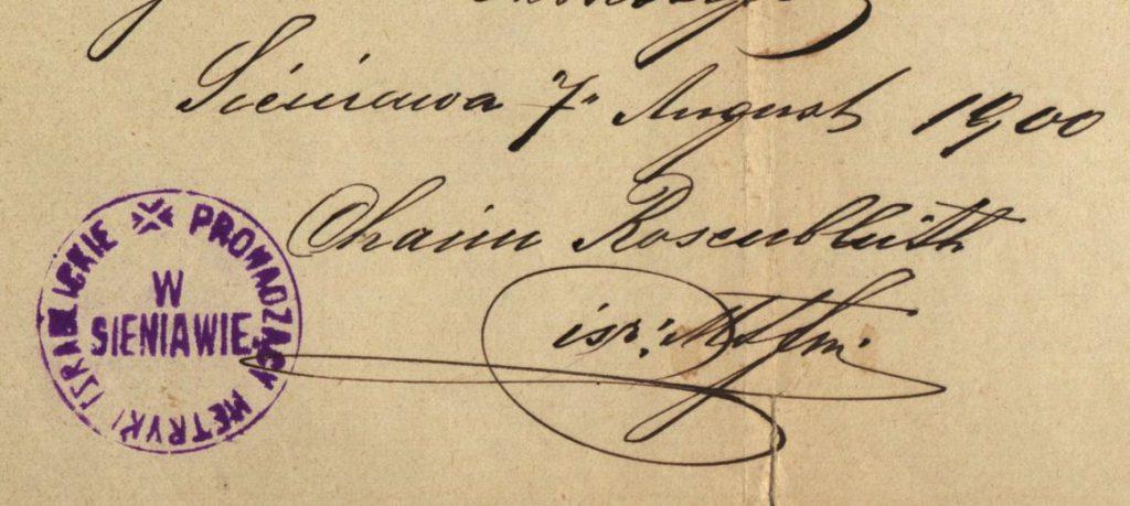 Sieniawa - 1900