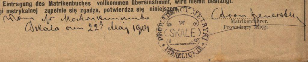 Skała - 1901