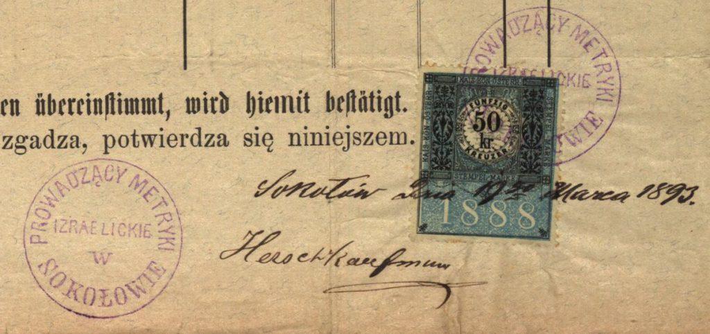 Sokołów Małopolski - 1893