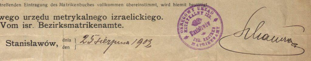Stanisławów (now Ivano-Frankivsk, Ukraine) - 1903