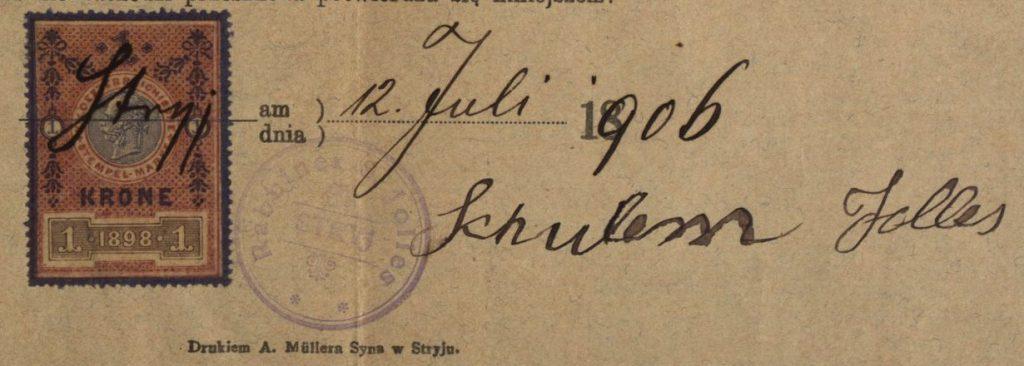 Stryj (now Stryi, Ukraine) - 1906 - Rabbi Schulem Jolles