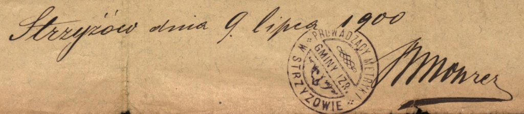 Strzyżów - 1900