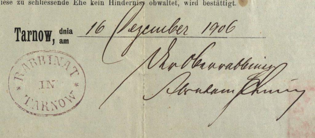 Tarnów - 1906 - Rabbinate