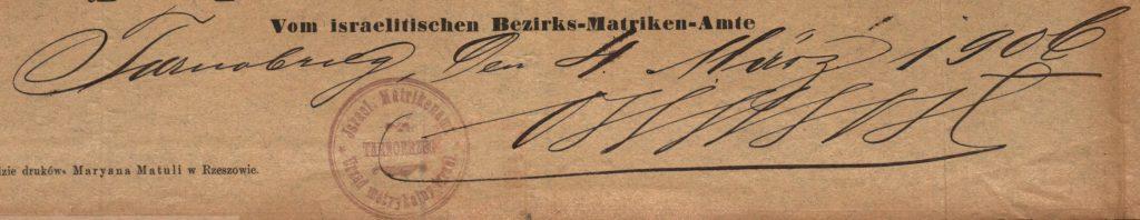 Tarnobrzeg - 1906