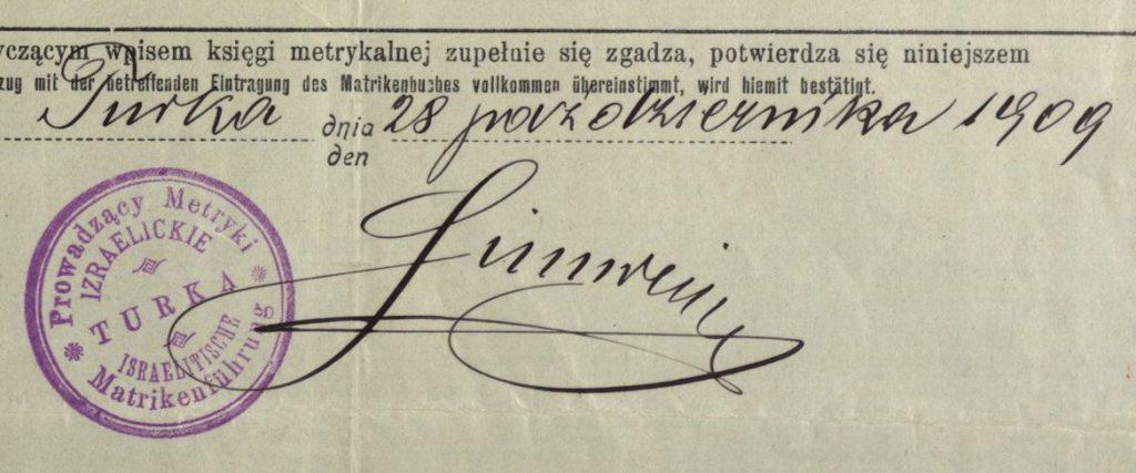 Turka (now in Ukraine) - 1909
