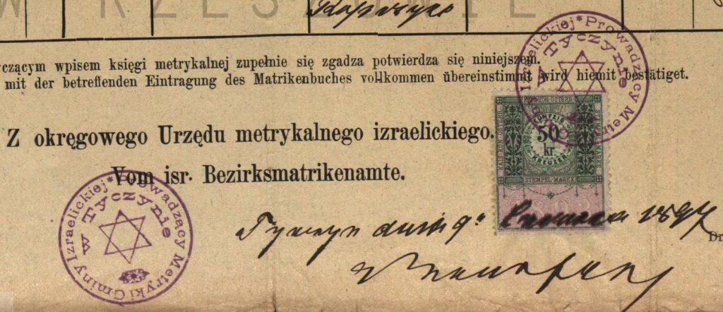 Tyczyn - 1894