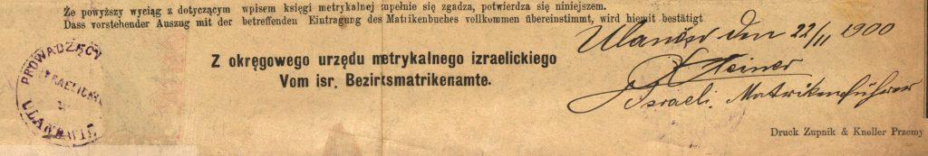 Ulanów - 1900