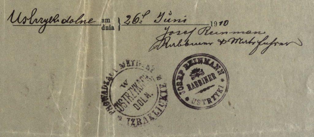 Ustrzyki Dolne - 1910 - Rabbi Josef Reinmann
