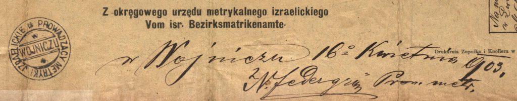 Wojnicz - 1903